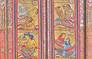 Balinese painted doors