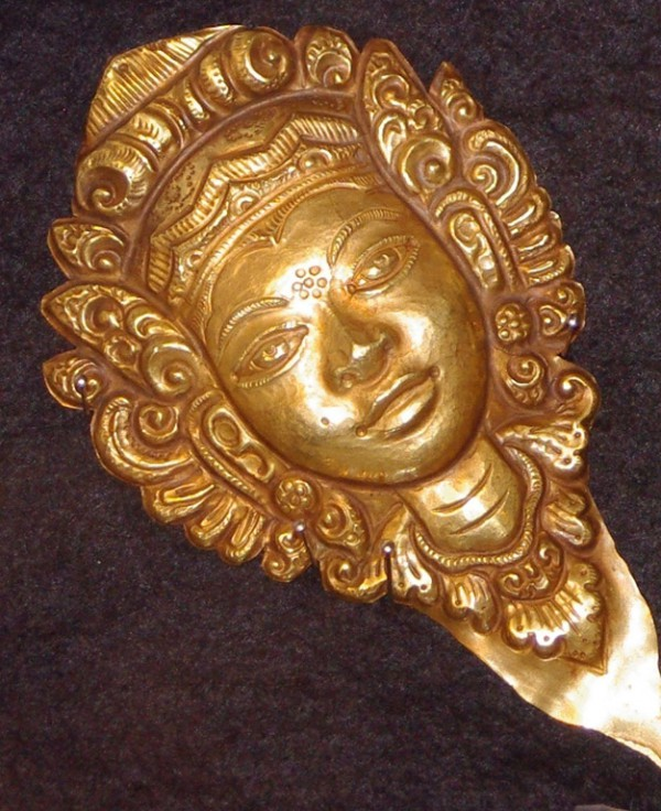 Balinese gold miniature masks