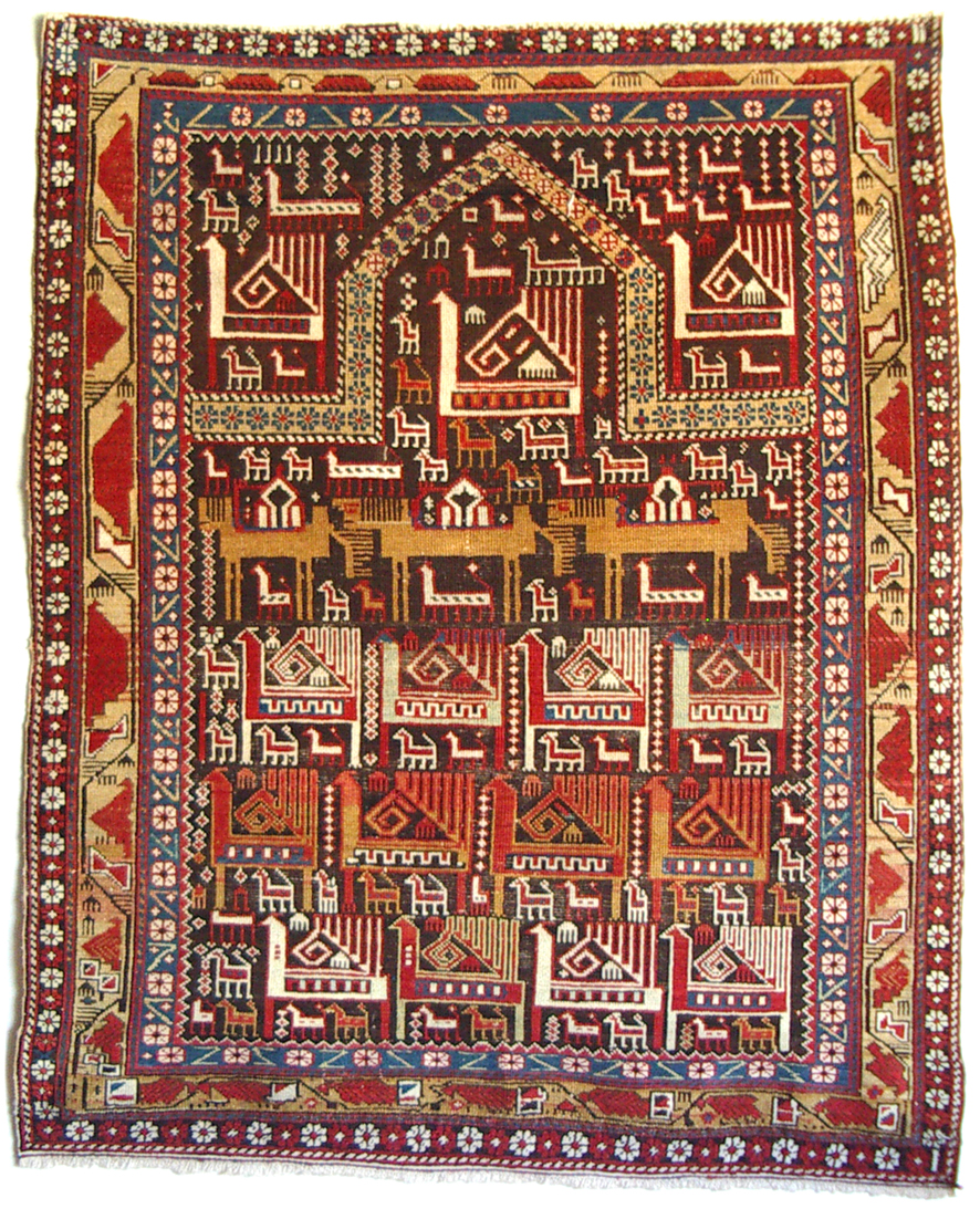 Marasali Shirvan prayer rug 126 x 106 cm