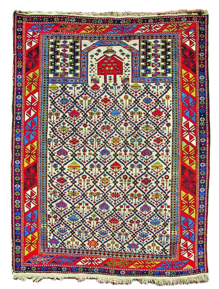 Shirvan Marasali prayer rug Longfoot 147 x 111cm