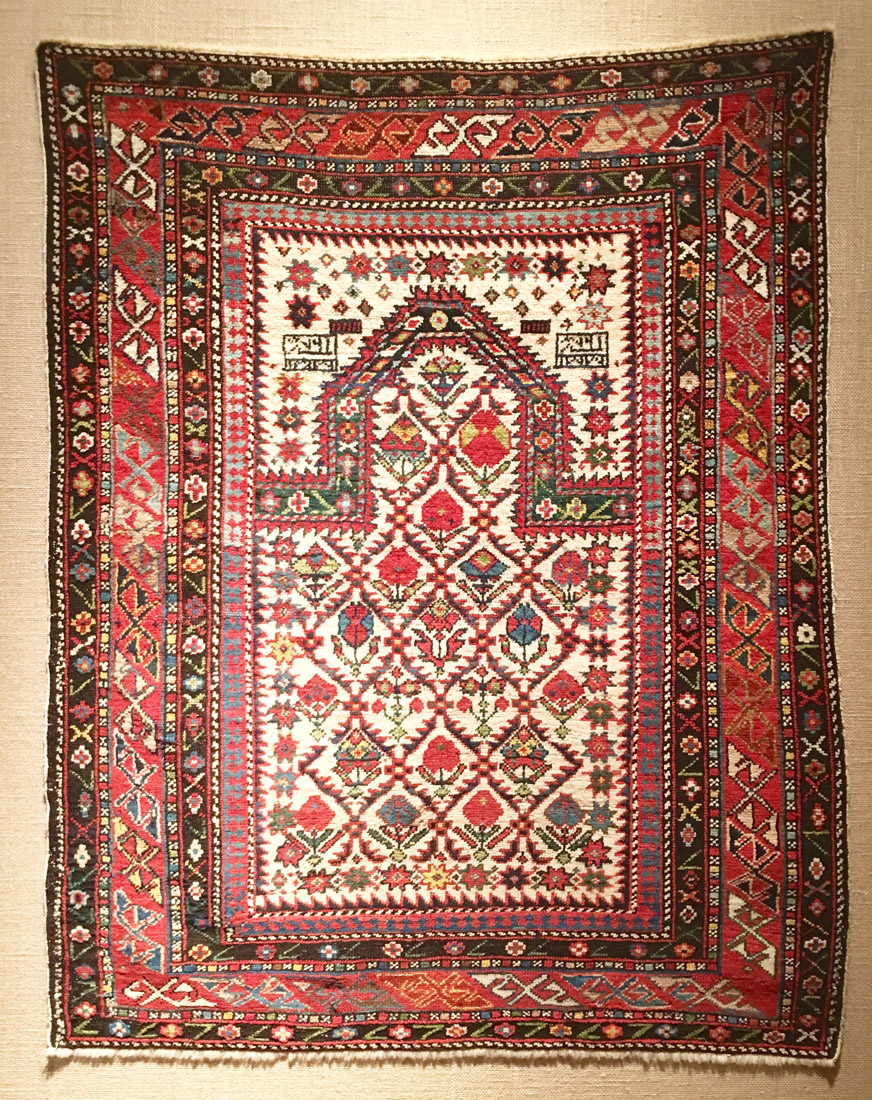 Shirvan prayer rug 125 x 102 cm