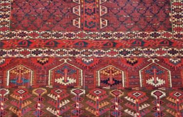 Yomud ensi (tent entrance hanging)