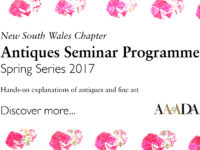 Upcoming Talk: NSW Antiques Seminar Spring Series 2017