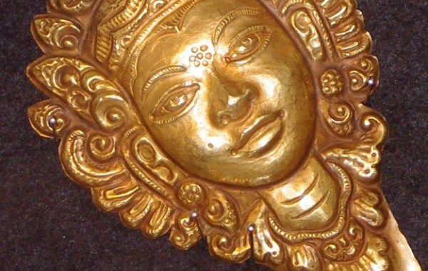 Balinese gold miniature masks