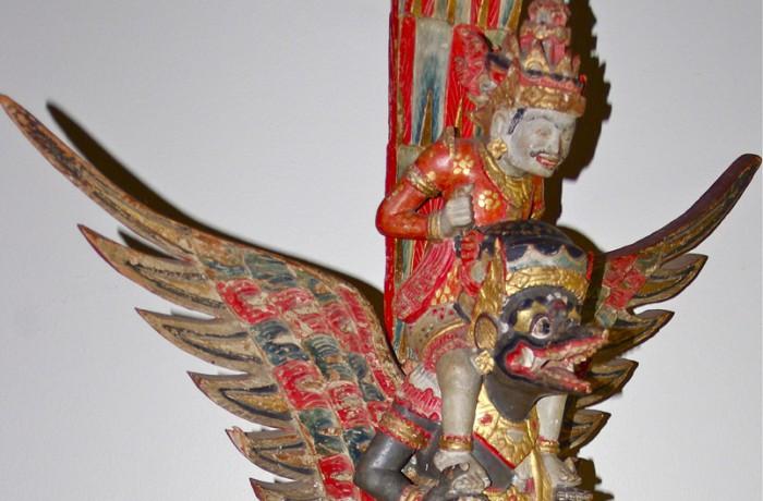 Vishnu riding Garuda Bali